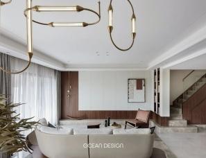 奥迅设计--佛山金融街仙湖悦府中叠170m²、下叠130m²