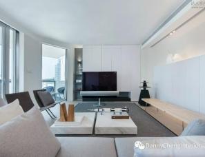 香港郑炳坤设计--半山公寓 大道极简,黑白灰